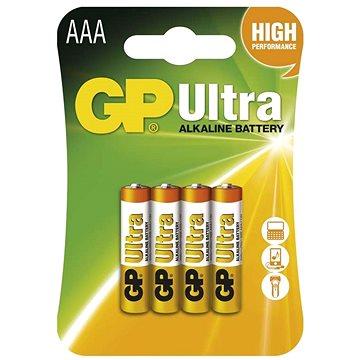 GP Ultra Alkaline LR03 (AAA) 4ks v blistru (1014114000)