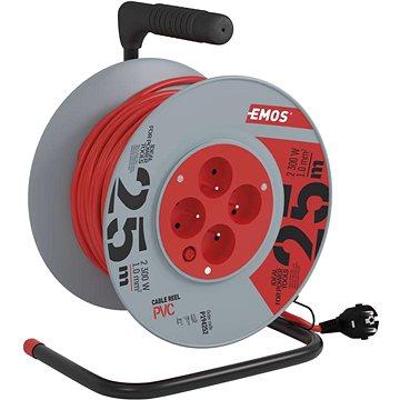 Emos PVC prodlužovací kabel na bubnu - 4 zásuvky 25m (1908142500)
