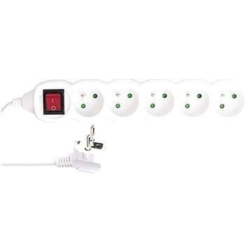 EMOS Prodlužovací kabel s vypínačem – 5 zásuvek, 3m, 3× 1,5mm2 (1902150308)