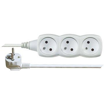 EMOS Prodlužovací kabel – 3 zásuvky, 10m, bílý (1902031000)