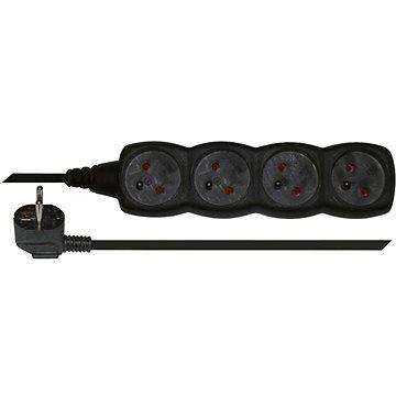 EMOS Prodlužovací kabel – 4 zásuvky, 5m, černý (1902240500)