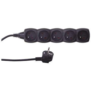 EMOS Prodlužovací kabel – 5 zásuvek, 3m, černý (1902250300)