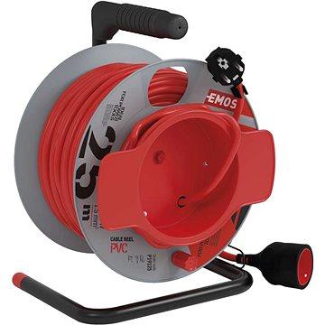 EMOS PVC prodlužovací kabel na bubnu – spojka, 25m, 1,5mm2 (1908012501)