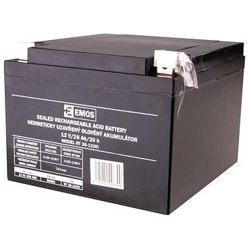 EMOS Bezúdržbový olověný akumulátor 12 V/26 Ah L2 (1201003600)