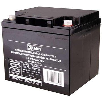 EMOS Bezúdržbový olověný akumulátor 12 V/40 Ah M6 (1201003700)