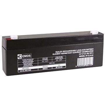 EMOS Bezúdržbový olověný akumulátor 12 V/2,2 Ah, faston 4,7 mm (1201002600)
