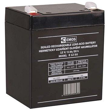 EMOS Bezúdržbový olověný akumulátor 12 V/5Ah, faston 6,3 mm (1201003300)