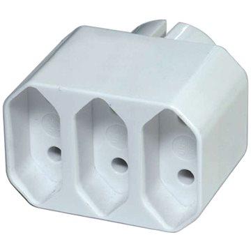 EMOS Rozbočovací zásuvka 3× plochá, bílá (1905030000)