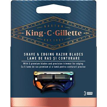 KING C. GILLETTE Shave&Edging 3 ks (7702018590230)