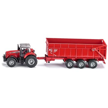 Siku Farmer - Traktor Massey Ferguson s přívěsem (4006874018444)
