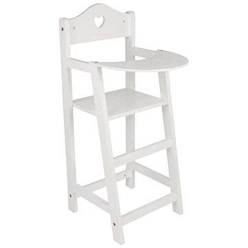 Dřevěná židlička pro panenky bílá (4020972028570)