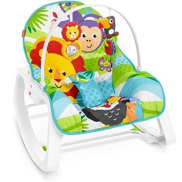 Fisher-Price Sedátko od miminka po batole zvířátka z džungle (0887961878363)