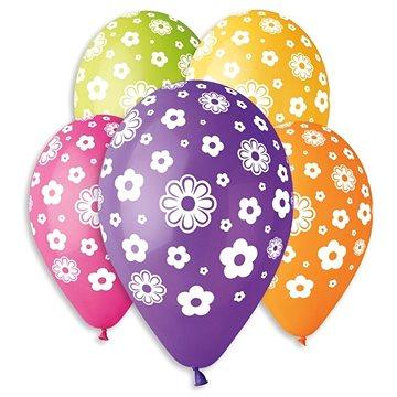 Nafukovací balónky, 30cm, květiny, mix barev, 5ks (8021886301823)