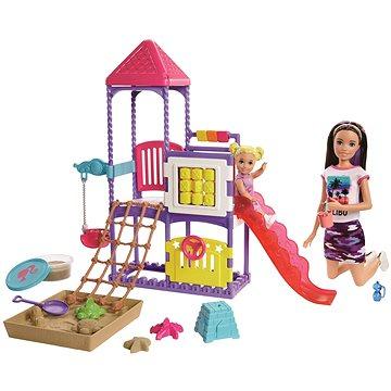 Barbie chůva na hřišti herní set (0887961803587)