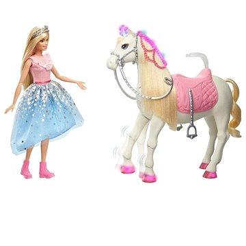 Barbie princess adventure princezna a kůň se světly a zvuky (0887961857627)
