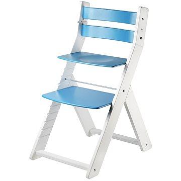 Rostoucí židle Wood Partner Sandy Kombi Barva: bílá/modrá (8592927752756)