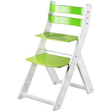 Rostoucí židle Wood Partner Sandy Kombi Barva: bílá/zelená (8592927752749)