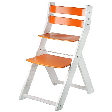 Rostoucí židle Wood Partner Sandy Kombi Barva: bílá/oranžová (8592927752770)