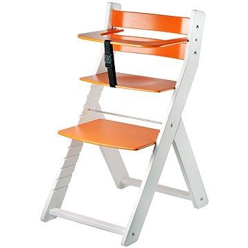 Rostoucí židle Wood Partner Luca Kombi Barva: bílá/oranžová (8592927751674)