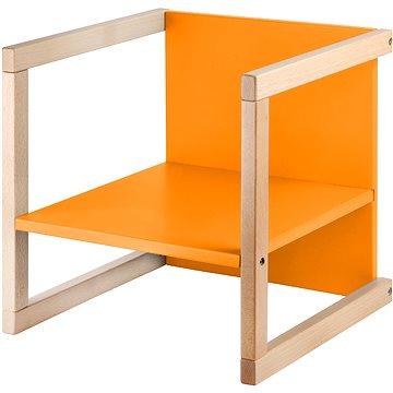 Wood Partner Dětská židle WENDY 3v1 Barva: lak/oranžová (8590808188076)