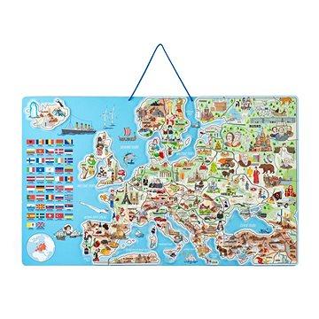 Woody Magnetická mapa EVROPY, společenská hra 3 v 1, ČJ (8591864912322)