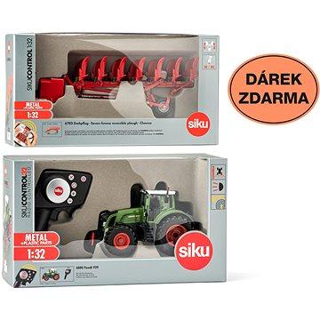 Siku Control - limitovaná edice traktor Fendt 939 + oboustranný pluh 6783 1:32 (8591864667833)