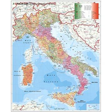 Itálie PSČ I. 137x97cm lamino, plastové lišty nástěnná mapa (9783929627770)