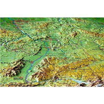 Německo reliéfní 3D plastická nástěnná mapa 57x77cm (4280000002013)