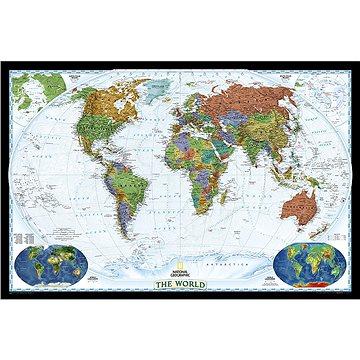 Svět politický DECORATIVE 122x186cm, lamino plastové lišty nástěnná mapa (9780792280873)