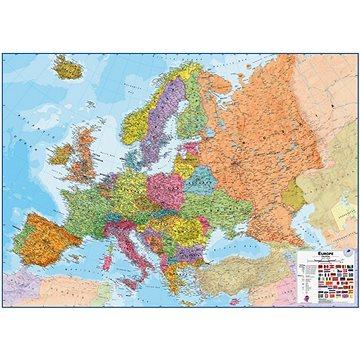 Evropa politická Terra 100x136cm lamino, plastové lišty nástěnná mapa (9781903030554)