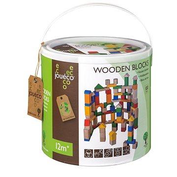 Jouéco dřevěné kostky v kyblíku 100ks (8711866800193)