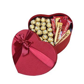 """Dárkový box ve tvaru srdce pro muže """"Red Label whisky"""" 27 cm (8594203950771)"""