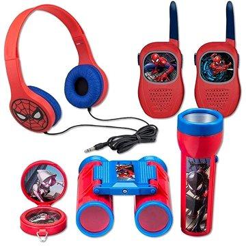 Set Spiderman - vysílačky,sluchátka,baterka,kompas (819559023152)