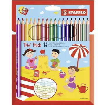 STABILO Trio silné, pouzdro s ořezávátkem 18 barev (4006381357784)