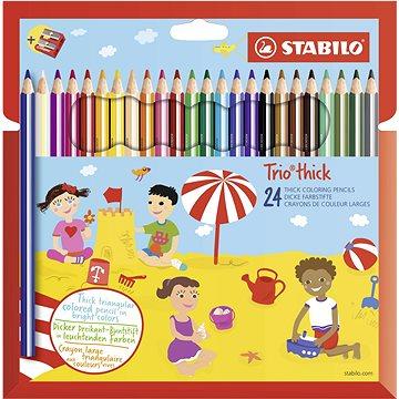 STABILO Trio silné, pouzdro s ořezávátkem 24 barev (4006381484015)