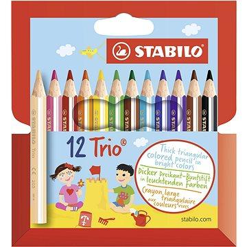 STABILO Trio silné, krátké, pouzdro 12 barev (3168070205125)