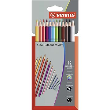 STABILOaquacolor kartonové pouzdro Premium 12 barev (4006381137676)