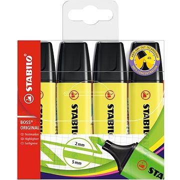 STABILO BOSS ORIGINAL 4 ks pouzdro žlutá (4006381109567)