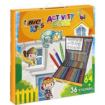 BIC Dětský kufřík, mix produktů 64 ks + 36 ks nálepek (3086123516182)