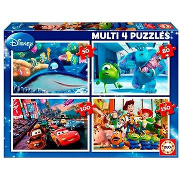 Educa Puzzle Disney Pixar Mix 4v1 (50,80,100,150 dílků) (8412668156159)