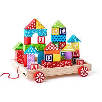 Woody Vozík s kostkami/razítky ABC (8591864909131)