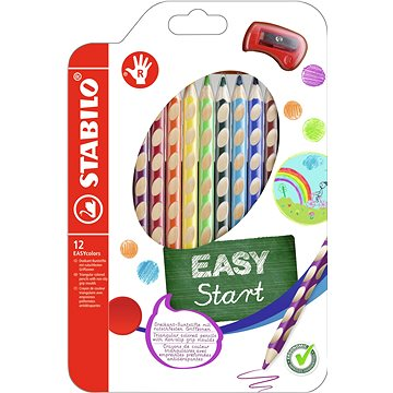 STABILO EASYcolors R pouzdro s ořezávátkem 12 barev (4006381398732)