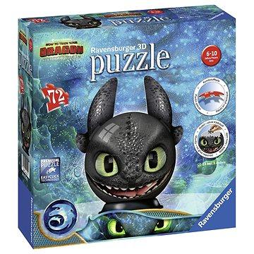 Ravensburger 3D 111459 Puzzle-Ball Jak vycvičit draka 3: Bezzubka (4005556111459)