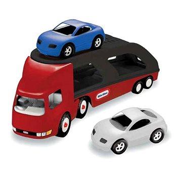 Little Tikes Tahač s návěsem pro přepravu aut - červený (0050743484964)