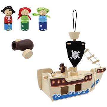 Dřevěná pirátská loď (22740)