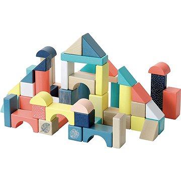 Vilac Dřevěné kostky barevné Canopée 54 ks (3048700021212)