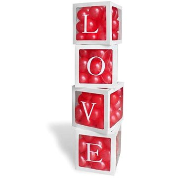 Dekorativní boxy na balónky love - valentýn - 4 ks (5902973129205)