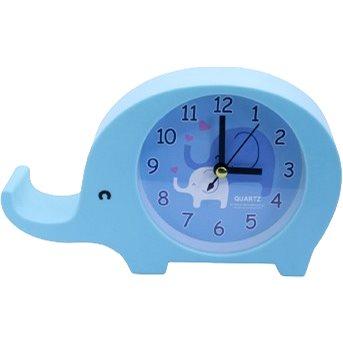 Budík analogový, design slon, modrá (8595235914083)