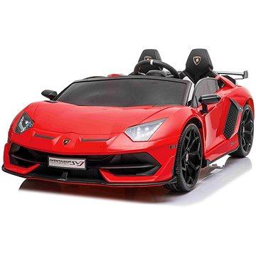 Elektrické autíčko Lamborghini Aventador 12V dvoumístné, červené (8586019942804)