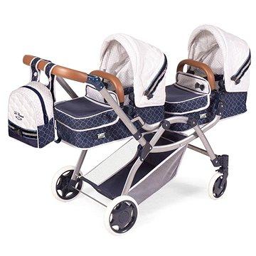 DeCuevas 80337 Skládací kočárek pro dvojčata panenky 3 v 1 s batůžkem TOP Collection 2020 (4897022803377)